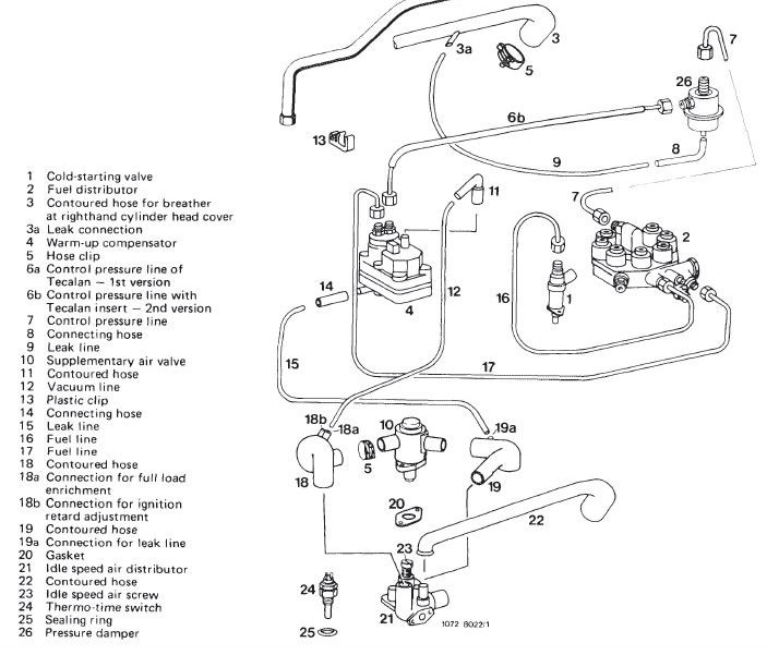 1978 mercedes 450sl vacuum diagram routing warm-up regulator/compensator (1978 450sl) - mercedes-benz ... 1973 mercedes 450sl vacuum diagram